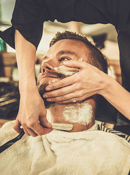mensroom hair shaving salon